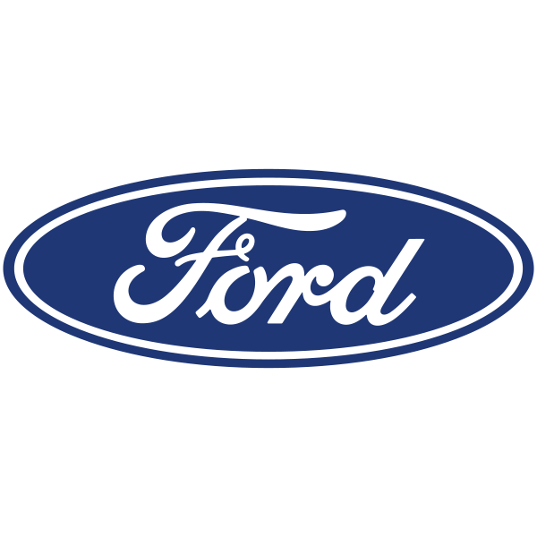 The Ford logo uses blue to symbolise strength and dependability