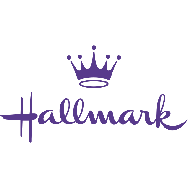 Purple is the colour of the Hallmark logo and evokes feelings of creativity and mystery