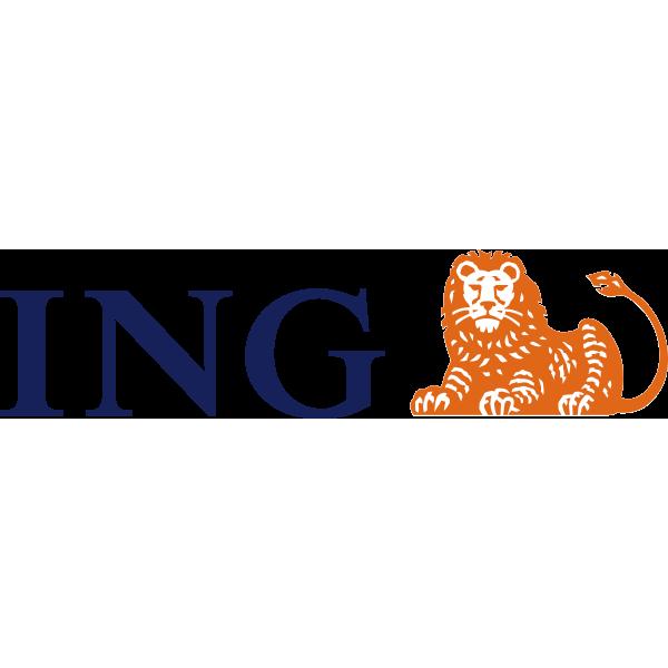 ING Group logo - the logo uses orange to convey its Dutch heritage