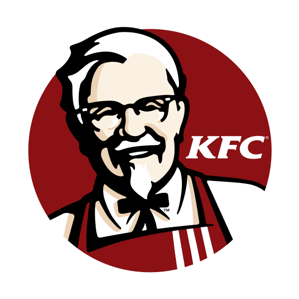 Kentucky Fried Chicken logo - the logo uses the colour red to stimulate people's appetite