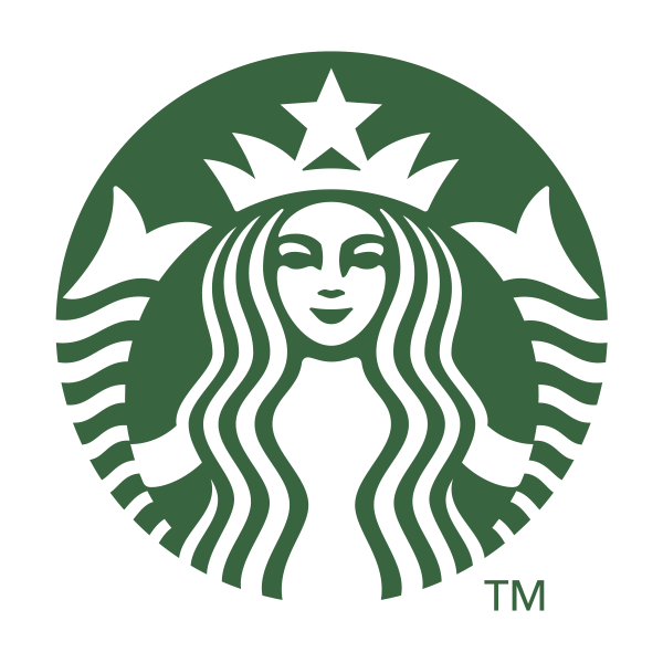 Starbucks logo uses green to convey growth, freshness and prosperity