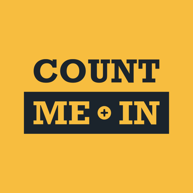 Count Me In black logo stacked