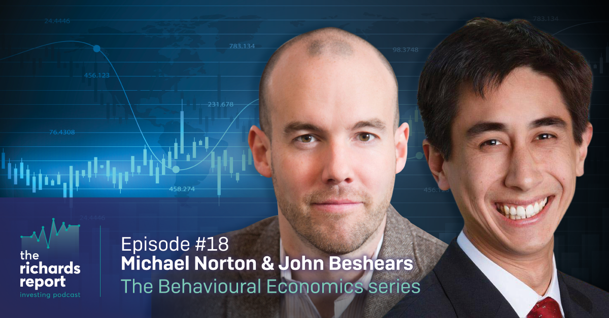 The Richards Report Episode 18 - Michael Norton and John Besheares Banner designed by Six Foot Seven
