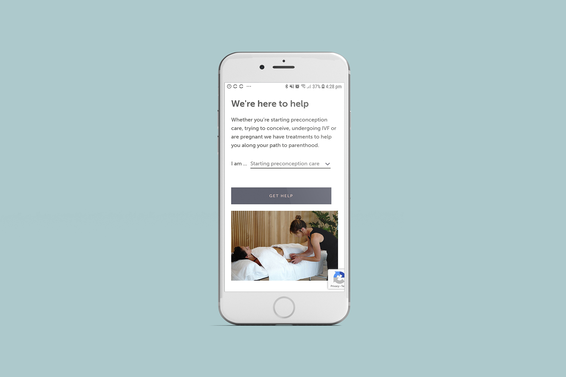 The Fertility Suite website designed by Six Foot Seven