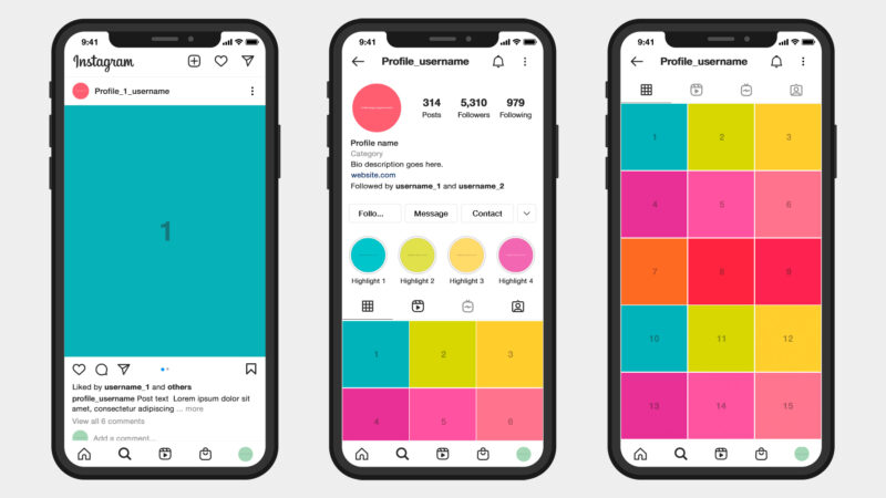How to create your own Instagram mockup – free templates